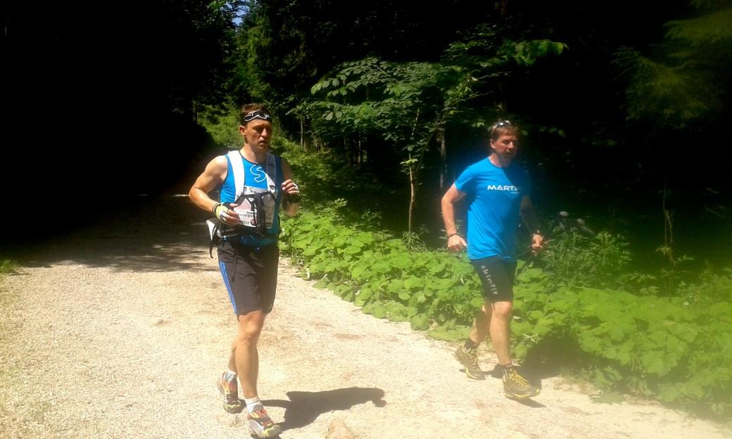 Gerhard begleitete Hermann auf den letzten 16 Kilometern.